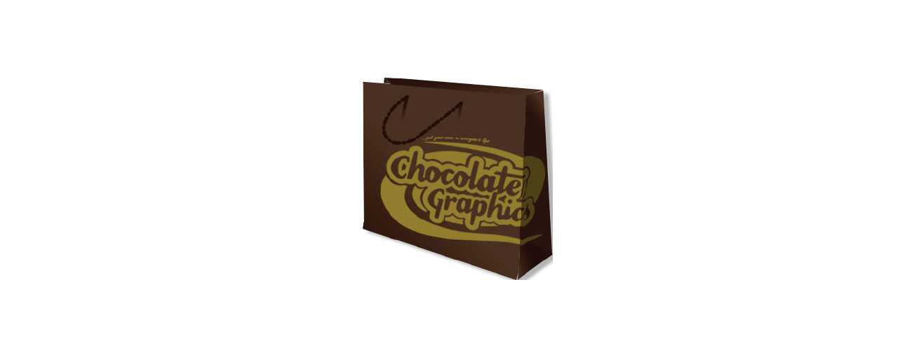 packaging chocolate graphic paper bag